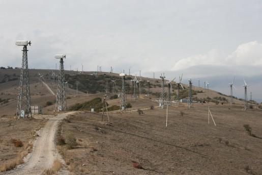 Ветроэлектростанция на горе Меганом