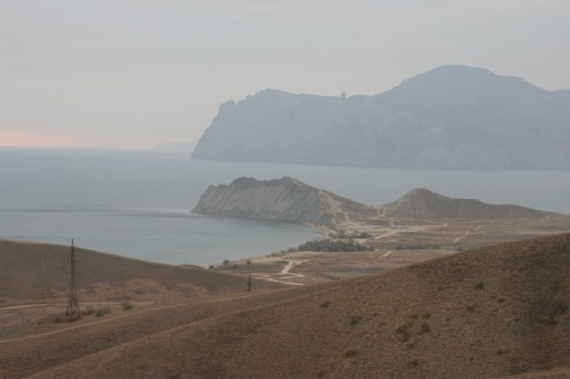 Вид на Карадаг со стороны хребта Биюк-Янышар
