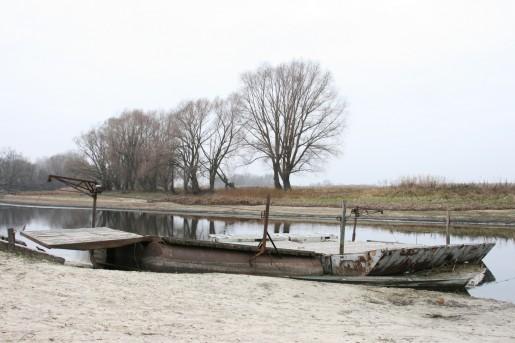 Уровень воды в реке Сула в ноябре 2012 года