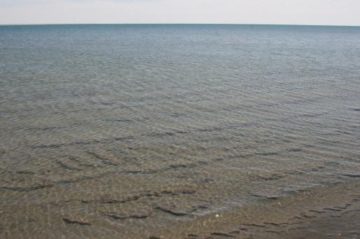 Пласты глины на дне моря