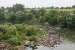За дамбой Трушковского водохранилища