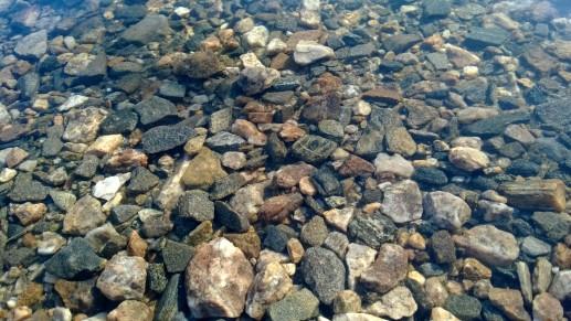 Кристально чистая вода в озере Почка