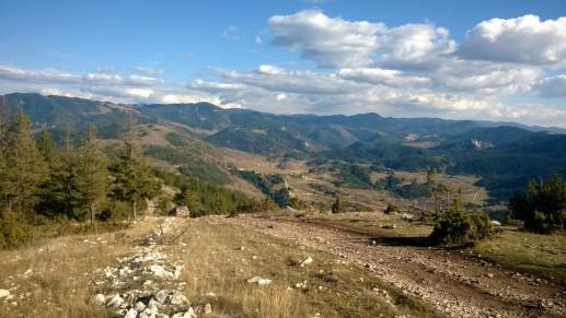 Вид с вершины горы Ушите