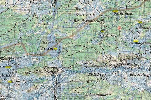 Пример карты с подложкой из километровки Советского Генштаба и наложенным на нее слоем Австро-Венгерской топографии