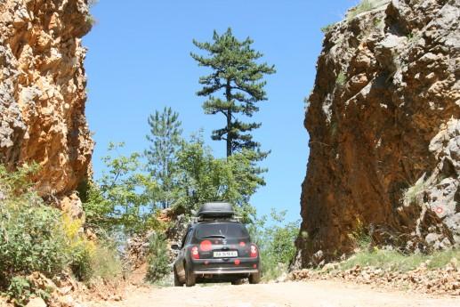 Последние 300 метров грунтовой дороги вокруг Дурмитора