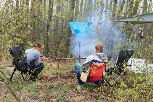 Наш лагерь на севере Пулемецкого озера