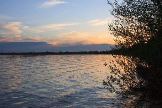 Закат на Пулемецком озере