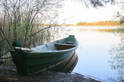 На западном берегу Островского озера