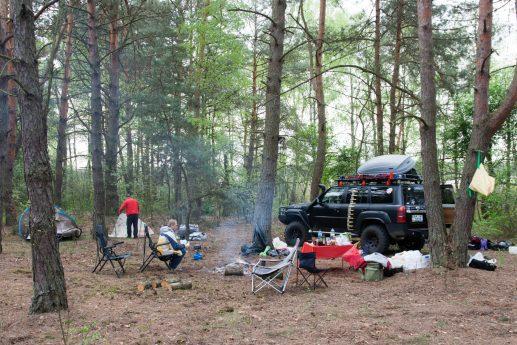 Наш лагерь около урочища Татарские Горы на озере Свитязь