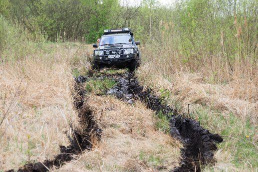 Прохождение заболоченного участка на северо-востоке озера Пулемецкое